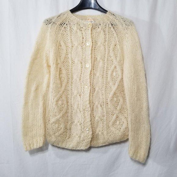 Mantessa vintage wool blend knit cardigan